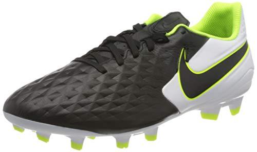 Nike Legend 8 Academy Fg/mg, Unisex Adult's Footbal Shoes Footbal Shoes, Black (Black/Black/White/Volt 007), 9 UK (44 EU)