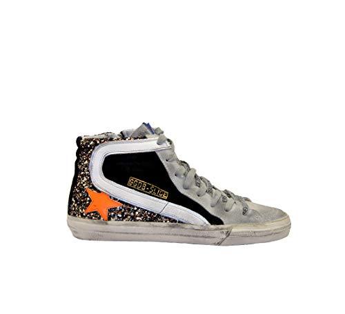 Golden Goose Sneakers Slide Negro Glitter