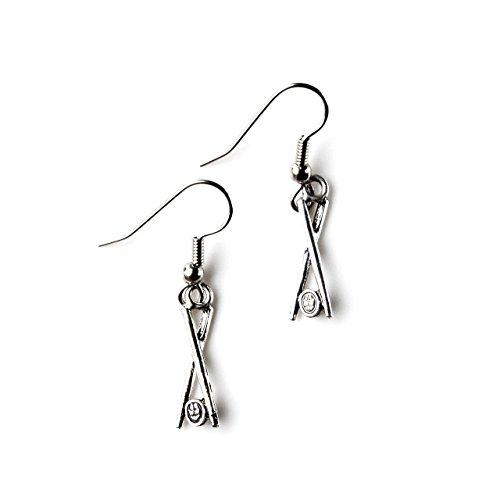 Chopsticks Sushi French Loop Earrings