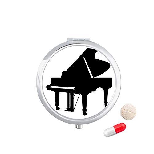 DIYthinker Piano Klassieke Muziek Instrument Patroon Reizen Pocket Pill Case Medicine Drug Opbergdoos Dispenser Spiegel Gift