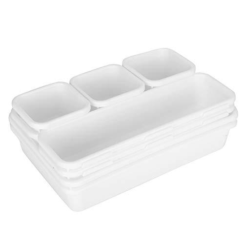 Omabeta Organizador Duradero del cajón de Las bandejas fáciles de Limpiar Simple para el Taller para la Cocina(White)