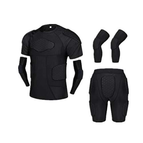 Motorrad Schutz, Adult Football Basketball Knieschützer Ellenbogen Sport Kampf Schutzausrüstung Reiten bruchsicher Kleidung Rüstung Kleidung Anzug Off-Road-Schutzausrüstung, ( Farbe : A , Größe : L )