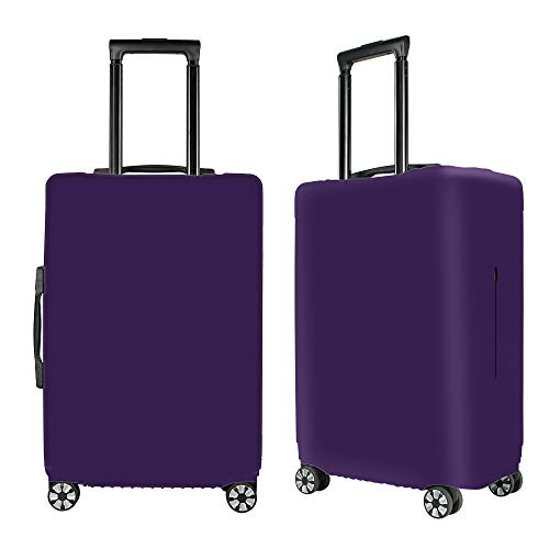 Washable Luggage Cover Spandex Suitcase Cover Protective Fits 19-33inch Luggage Zipper Carry On Covers Purple