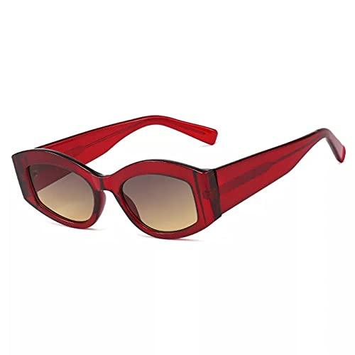 BAJIE Gafas de Sol Gafas de Sol ovaladas Gafas de Sol de Gran tamaño Rojas para Mujer Gafas de Sol para Mujer y Hombre Gafas de Sol para Mujer