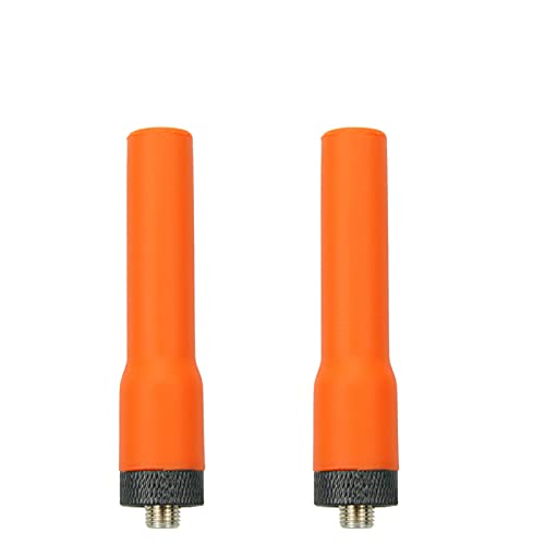 2 unidades universal Walkie Talkies antena corta suave VHF/UHF 136/430 SMA-hembra antena para Baofeng Retevis Kenwood HYT radio bidireccional