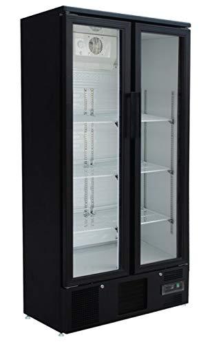 Frigorifero con ante in vetro, 490 litri, frigorifero per bottiglie, industria gastronomica