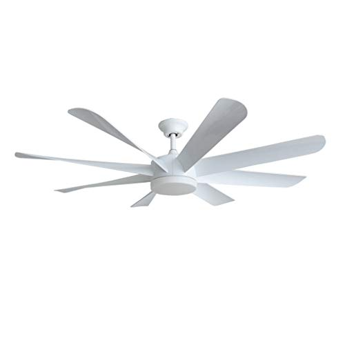 Duoer Home Plafondventilatoren, industriële wind, 8 bladen, 58 inch led-plafondventilatoren, afstandsbediening, voor woonkamer, slaapkamer, plafondlamp, ventilator, plafondventilator