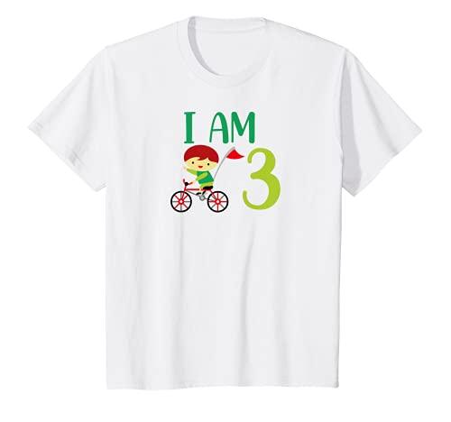 Niños Bicicleta para niños de 3 años y 3 cumpleaños Camiseta