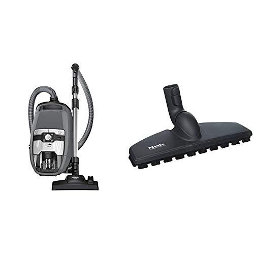 Miele Blizzard CX1 Powerline/Staubsauger ohne Beutel / 890 Watt/Hygiene Lifetime Filter / 3-teiliges Zubehör/Universal-Bodendüse / 2 Liter Volumen/grau & SBB 300-3 Parkettdüse Twister