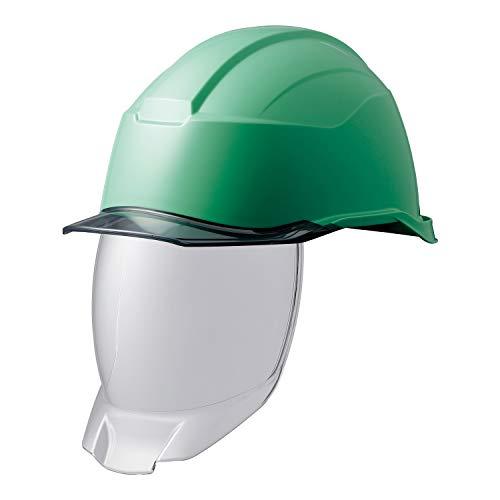 ミドリ安全 ヘルメット 作業用 PC製 シールド面 クリアバイザー SC21PCLS RA3 KP付 侍II グリーン/スモーク