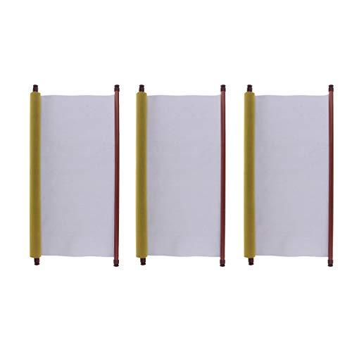 Baoblaze 3 Pack Chinois Calligraphie Eau Réinscriptible Écriture Tissu Tissu Scroll Plat D'eau Séchage Rapide Tissu Tissu Papier Pour Débutants Pratique Grande