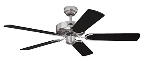 Westinghouse Ceiling Fans Cyclone Ventilador de Techo, Acero Satinado
