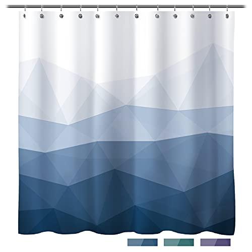 Sunlit Designer Shower Curtain,Popular Shower Curtain, Ombre Blue Fabric Shower Curtains for Bathroom Decor, Contemporary Bathroom Curtains