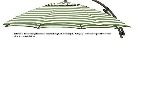 Garmö Sun Garden Sun Garden Easy Sun–Funda para sombrilla (375cm Verde/Blanco Polipropileno B069