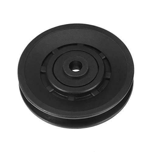 BESPORTBLE Polea de rodamiento universal de 90 mm, ruedas resistentes al desgaste, rodamiento de guía, polea de nailon, repuesto para aparatos de fitness
