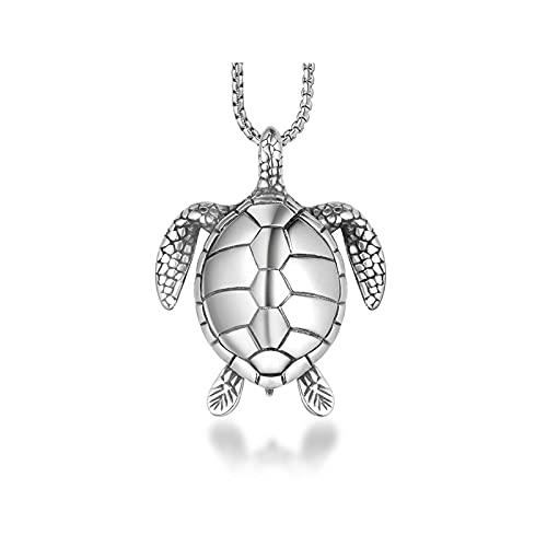 MINGDIAN Collar de Accesorios de Tortuga pequeña para Hombres y Mujeres Collar de Tortuga Accesorios de Collar de Tortuga de longevidad