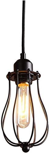 Vintage Retro Indison EDISON E27 Metal Shade Techo Lámpara Colgante Lámpara Lámpara de Lámpara de Techo de Montaje Negro Flush Lámpara Pequeña Araña