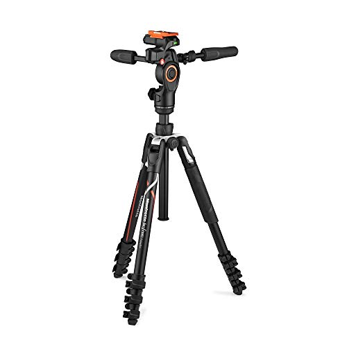 Manfrotto Befree 3-weg Live Advanced Camera Statief voor Sony's Alpha Camera's, Aluminium Travel MiniTripod, Hever Lock, met 3-weg Fluid Head, voor foto en video, Vlogging apparatuur, met Draagtas
