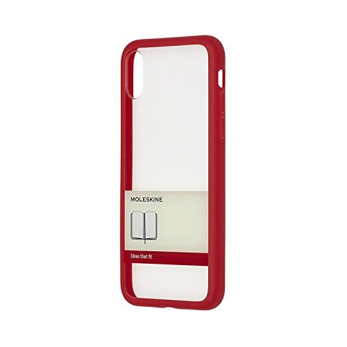 モレスキン iPhone X ケース ハード ペーパーバンド レッド MO2HP8BF2