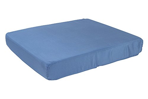 K9 Ballistics Tough Orthopedic Dog Bed Large Nearly Indestructible & Chew Proof, Washable Ortho Pillow for Chewing Puppy - for Large Dogs 40'x34', Blue