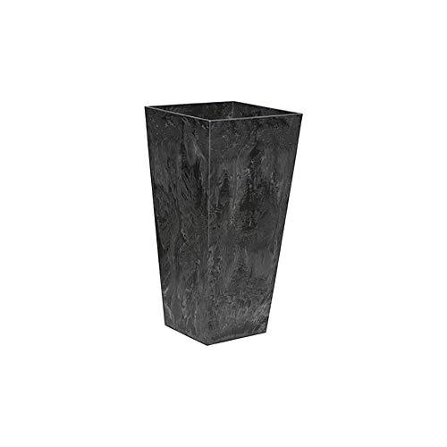 ArtStone Ella Tall Planter, Black, 13.5-Inch