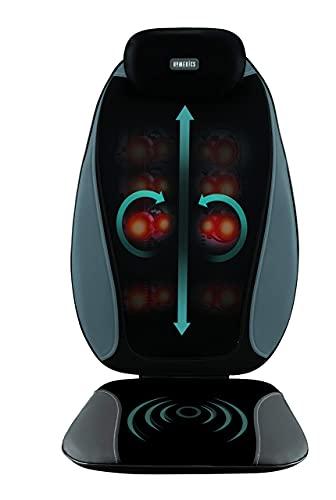HoMedics Shiatsu Pro Plus Heated Massage Cushion | Heated Vibrating Pad, Dual-Kneading Shiatsu Massager | Back, Shoulder, Thigh & Neck Massager, Fits Most Chairs