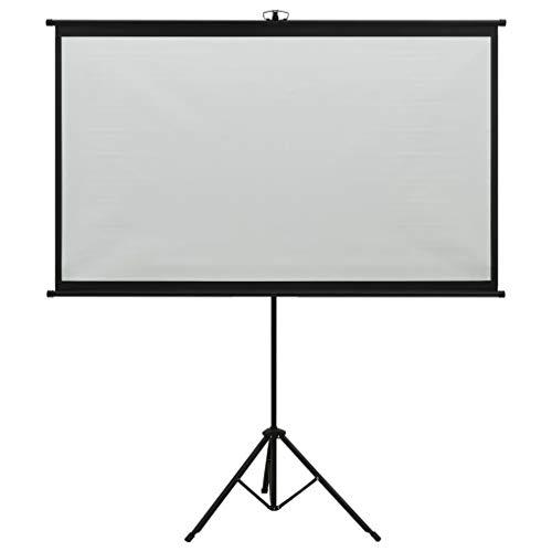 """vidaXL Schermo di Proiezione Telo di Proiezione Telone per Film e Diapositive Accessori per Proiettori Display con Treppiedi 60"""" 16:9"""