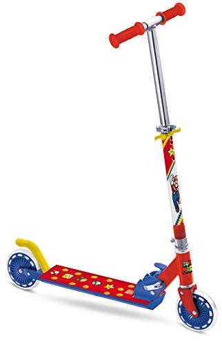 Mondo Toys 28618 - Patinete de Aluminio para niño niña Super Mario - Manillar Ajustable - 2 Ruedas