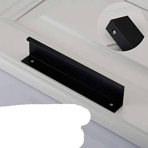 Aleación de aluminio invisible de la manija negra de los gabinetes de la cocina tiradores de los muebles del armario de la puerta del cajón de