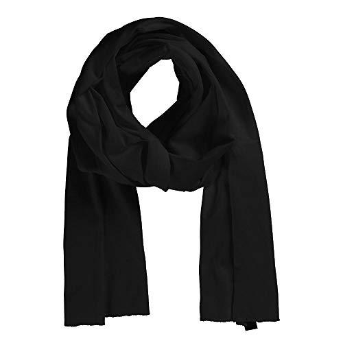 Neutral - Baumwollschal / Black, 180 x 40 cm