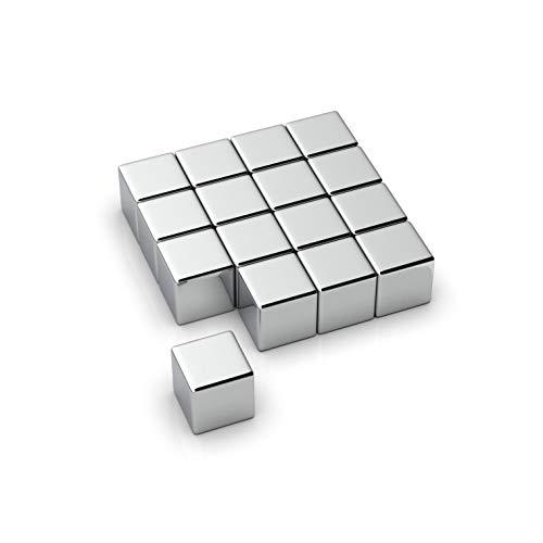 NeoMagNova 16 Stück XL starke Neodym Magnete für Glasmagnettafel, 10mm Würfel Magnete für Magnettafel, Glasboard, Magnetstärke N42