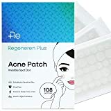 Regeneren Plus Acne Patch, Invisible, Waterproof, Breathable, Concealer and Hydrocolloid Pimple Patches for Face, Drug...