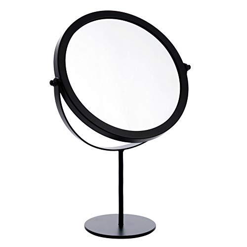 SZETOSY Tischspiegel – Goodchanceuk Metall-Drehspiegel, freistehend, verstellbar, 19 cm, rund Schwarz…
