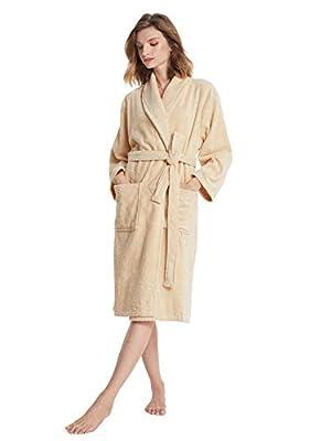 SIORO Women's Robe/Bath Wrap, Terry Cotton Bathrobe for Spa Shower Bath, Kimono Robe Sleepwear with Pockets