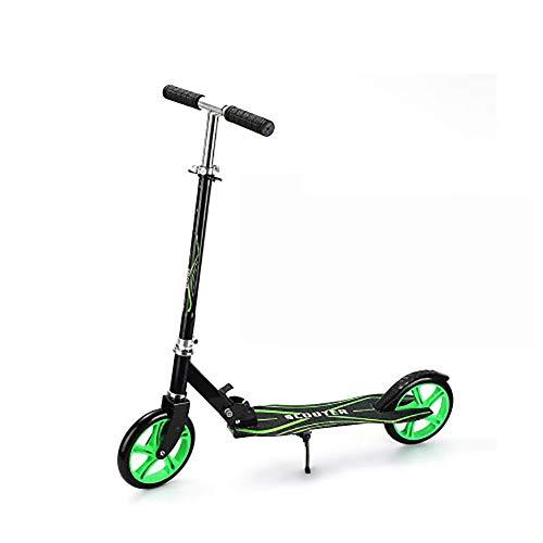 Freestyle - Patinete plegable con 2 ruedas, altura ajustable para adultos y niños, alta calidad, altura ajustable de 75 a 105 cm (color: D)