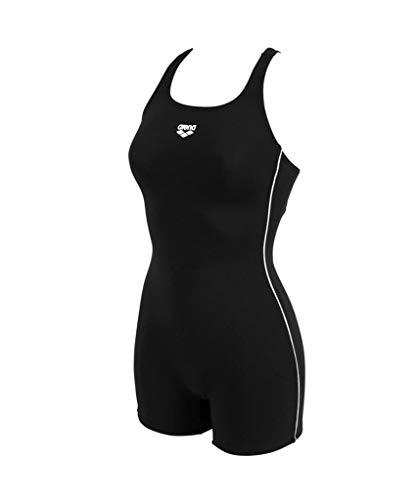 ARENA Mädchen Badeanzug mit Bein Finding, Black, 152
