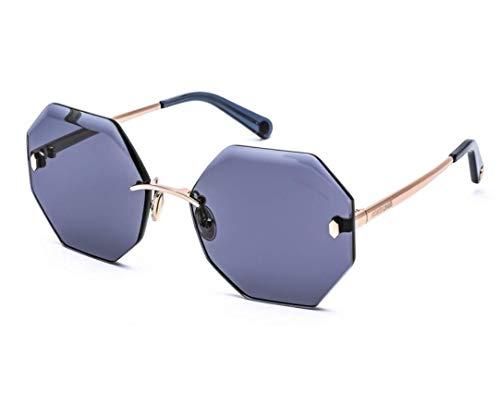 ROBERTO CAVALLI RC1131 33V - Gafas de sol para mujer (montura dorada, lentes azules, 61 mm)