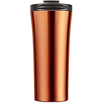 MENZY Country Classic Sports and Travel Double-Walled Vacuum Insulated Stainless Steel Hot and Cold Tea Coffee Mug (500 ml, Golden Yellow)