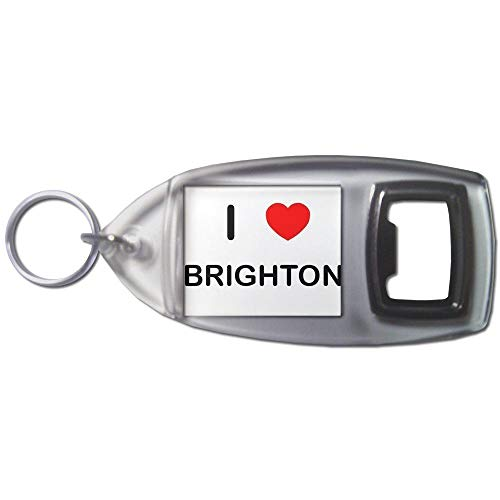 BadgeBeast.co.uk I Love Brighton - Llavero abridor de botellas de plástico
