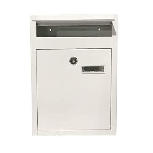 PLEASUR muurbevestiging vergrendelingsmailbox, veilige brievenbus, waterdichte brievenbus met 2 sleutels (kleur : zwart)