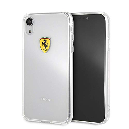 Ferrari Phone Case for iPhone XR Hard Case PC/TPU Shockproof Clear Case | Easy Snap-on | Drop Protection Case | Officially Licensed.