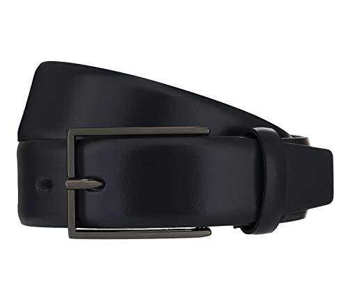 LLOYD Men\'s Belts Gürtel Herrengürtel Ledergürtel Blau 8380, Länge:95, Farbe:Blau