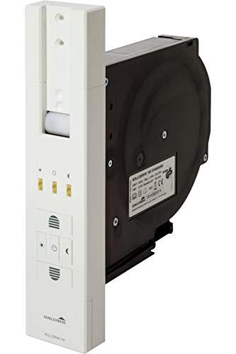 Schellenberg 22710 elektrischer Gurtwickler RolloDrive 105 Standard Unterputz Rolladenantrieb für 23 mm Rolladen-Gurt, Zugkraft max. 60 kg, max. Fläche 10 m², mit Zeitautomatik, inkl. Netzstecker