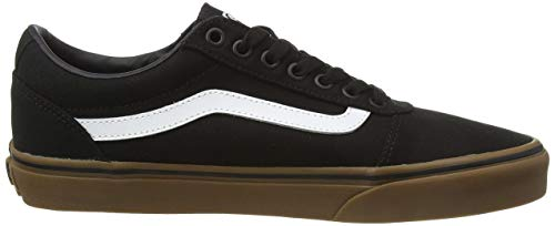 Vans Herren Ward Sneakers, Schwarz (Canvas) Black/Gum 7hi, 47 EU