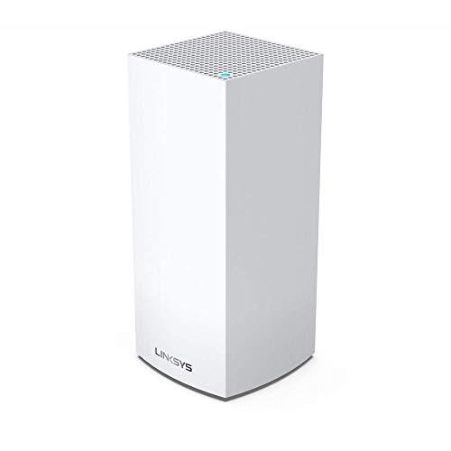 Linksys MX4200 -EU Sistema Velop WiFi 6 mesh tribanda para hogar (router/extensor WiFi AX4200, 260 m² de cobertura, velocidades hasta 3.5 veces más rápidas, más de 40 dispositivos, 1 nodo) blanco