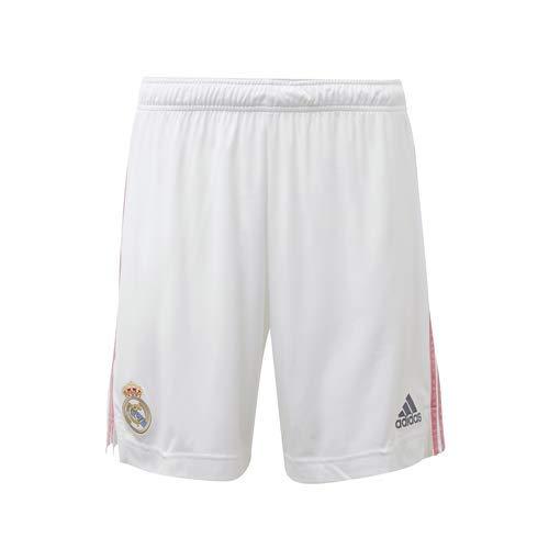 Real Madrid Adidas Stagione 2020/21 - Pantaloncini da Primo equipaggiamento Ufficiale – Pantaloni Corti da Primo equipaggiamento Ufficiale Unisex Adulto, Unisex - Adulto, FM4733, Bianco, XXL
