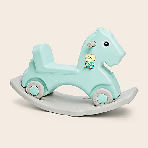 Cavallo a dondolo LINGZHIGAN Bambini Twist Car duplice Uso Musica ispessite Trojan Giocattolo del Bambino Anni Regalo (Color : Blue)