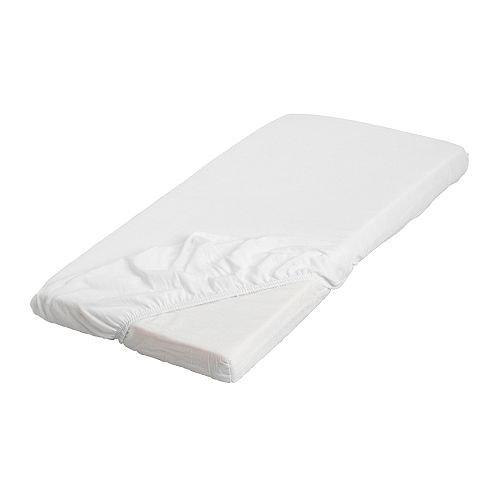 IKEA LEN-Lenzuolo con angoli, colore: bianco, 70 x 160 cm