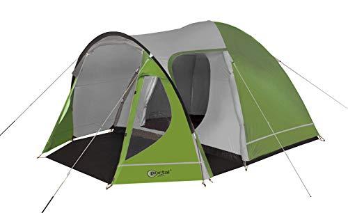 Portal Outdoors Portal Outdoor Delta Kuppelzelt und Tragetasche, schlafen bis zu 5, wasserdicht mit einem separaten Schlafzimmer, Grün, 5 Person