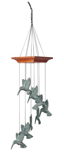 Woodstock Chimes HHS The Original Guaranteed Musically Tuned Chime Habitats-Hummingbird Spiral, Verdigris